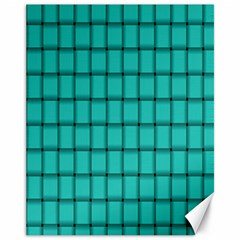 Turquoise Weave Canvas 11  x 14  9 (Unframed)