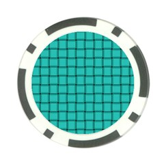 Turquoise Weave Poker Chip