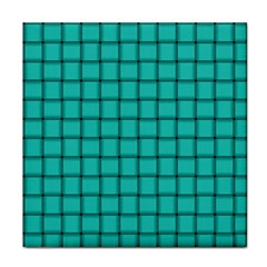 Turquoise Weave Face Towel