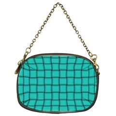 Turquoise Weave Chain Purse (One Side)