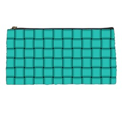 Turquoise Weave Pencil Case