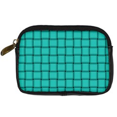 Turquoise Weave Digital Camera Leather Case