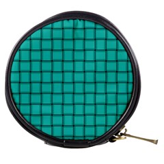 Turquoise Weave Mini Makeup Case