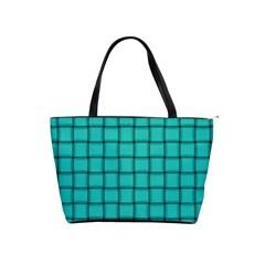 Turquoise Weave Large Shoulder Bag