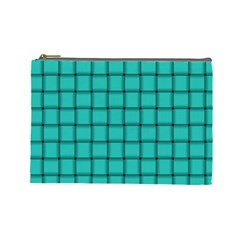 Turquoise Weave Cosmetic Bag (Large)