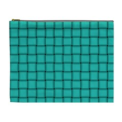 Turquoise Weave Cosmetic Bag (XL)