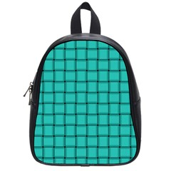 Turquoise Weave School Bag (Small)
