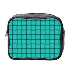 Turquoise Weave Mini Travel Toiletry Bag (Two Sides)