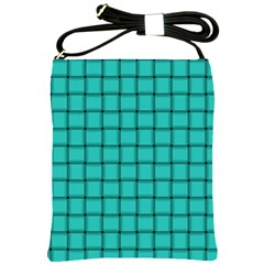 Turquoise Weave Shoulder Sling Bag