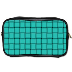 Turquoise Weave Travel Toiletry Bag (Two Sides)