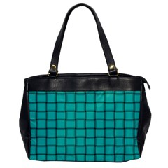 Turquoise Weave Oversize Office Handbag (One Side)