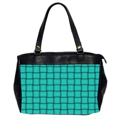 Turquoise Weave Oversize Office Handbag (Two Sides)