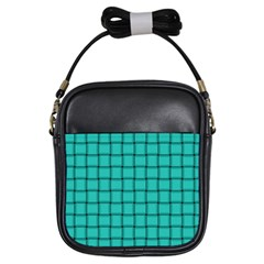 Turquoise Weave Girl s Sling Bag
