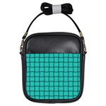 Turquoise Weave Girl s Sling Bag Front