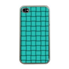 Turquoise Weave Apple Iphone 4 Case (clear)