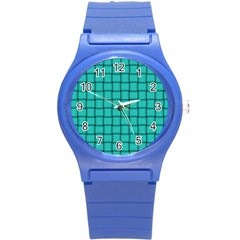 Turquoise Weave Plastic Sport Watch (small)