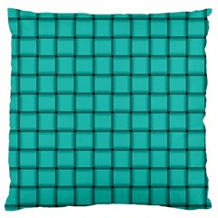 Turquoise Weave Large Cushion Case (two Sides)