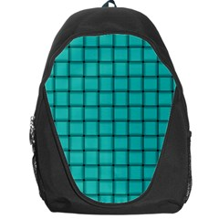 Turquoise Weave Backpack Bag