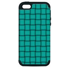 Turquoise Weave Apple iPhone 5 Hardshell Case (PC+Silicone)