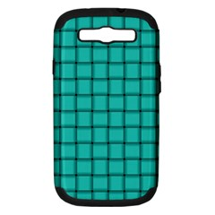Turquoise Weave Samsung Galaxy S Iii Hardshell Case (pc+silicone)