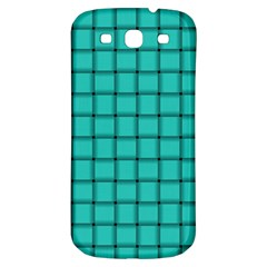 Turquoise Weave Samsung Galaxy S3 S III Classic Hardshell Back Case