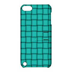 Turquoise Weave Apple Ipod Touch 5 Hardshell Case With Stand