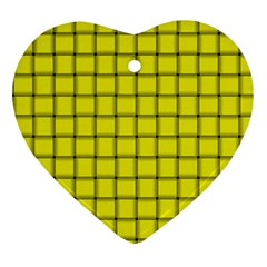 Yellow Weave Heart Ornament