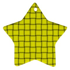 Yellow Weave Star Ornament