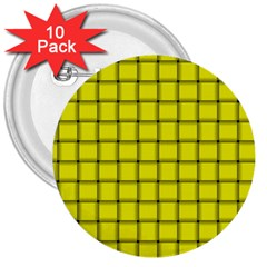 Yellow Weave 3  Button (10 pack)