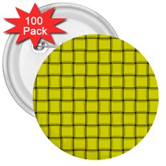 Yellow Weave 3  Button (100 Pack)