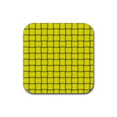 Yellow Weave Drink Coaster (Square)