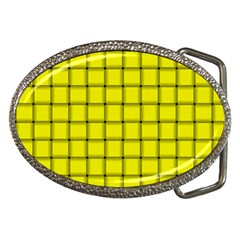 Yellow Weave Belt Buckle (oval)