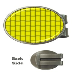 Yellow Weave Money Clip (Oval)