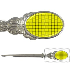 Yellow Weave Letter Opener