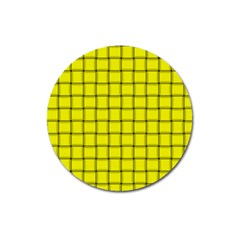 Yellow Weave Magnet 3  (Round)