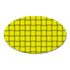 Yellow Weave Magnet (Oval)