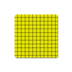 Yellow Weave Magnet (Square)