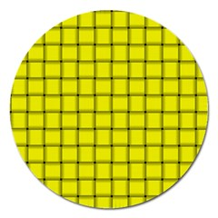 Yellow Weave Magnet 5  (round)