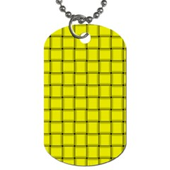 Yellow Weave Dog Tag (One Sided)