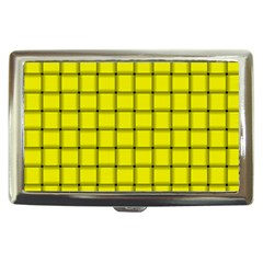 Yellow Weave Cigarette Money Case