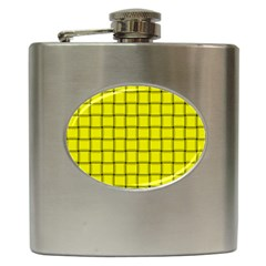 Yellow Weave Hip Flask