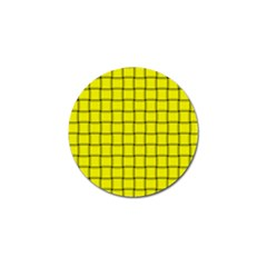 Yellow Weave Golf Ball Marker 10 Pack