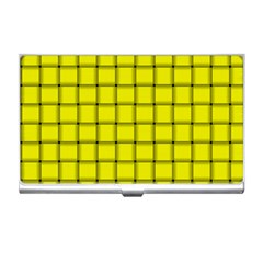 Yellow Weave Business Card Holder
