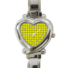 Yellow Weave Heart Italian Charm Watch