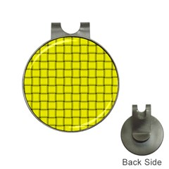 Yellow Weave Hat Clip with Golf Ball Marker