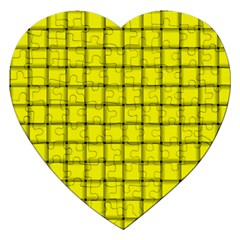 Yellow Weave Jigsaw Puzzle (heart)