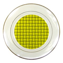 Yellow Weave Porcelain Display Plate