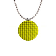 Yellow Weave Button Necklace