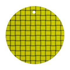 Yellow Weave Round Ornament (Two Sides)