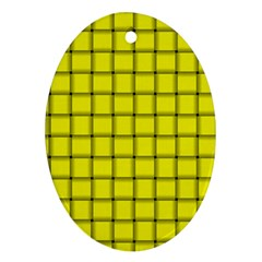 Yellow Weave Oval Ornament (two Sides)